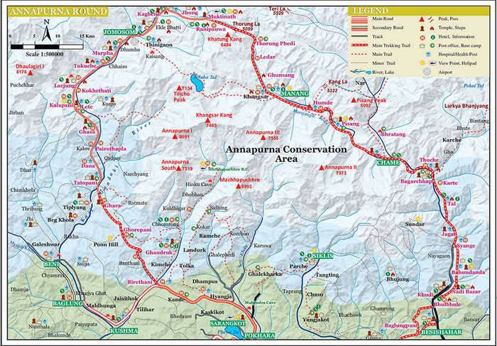 Нитка маршрута по Непалу